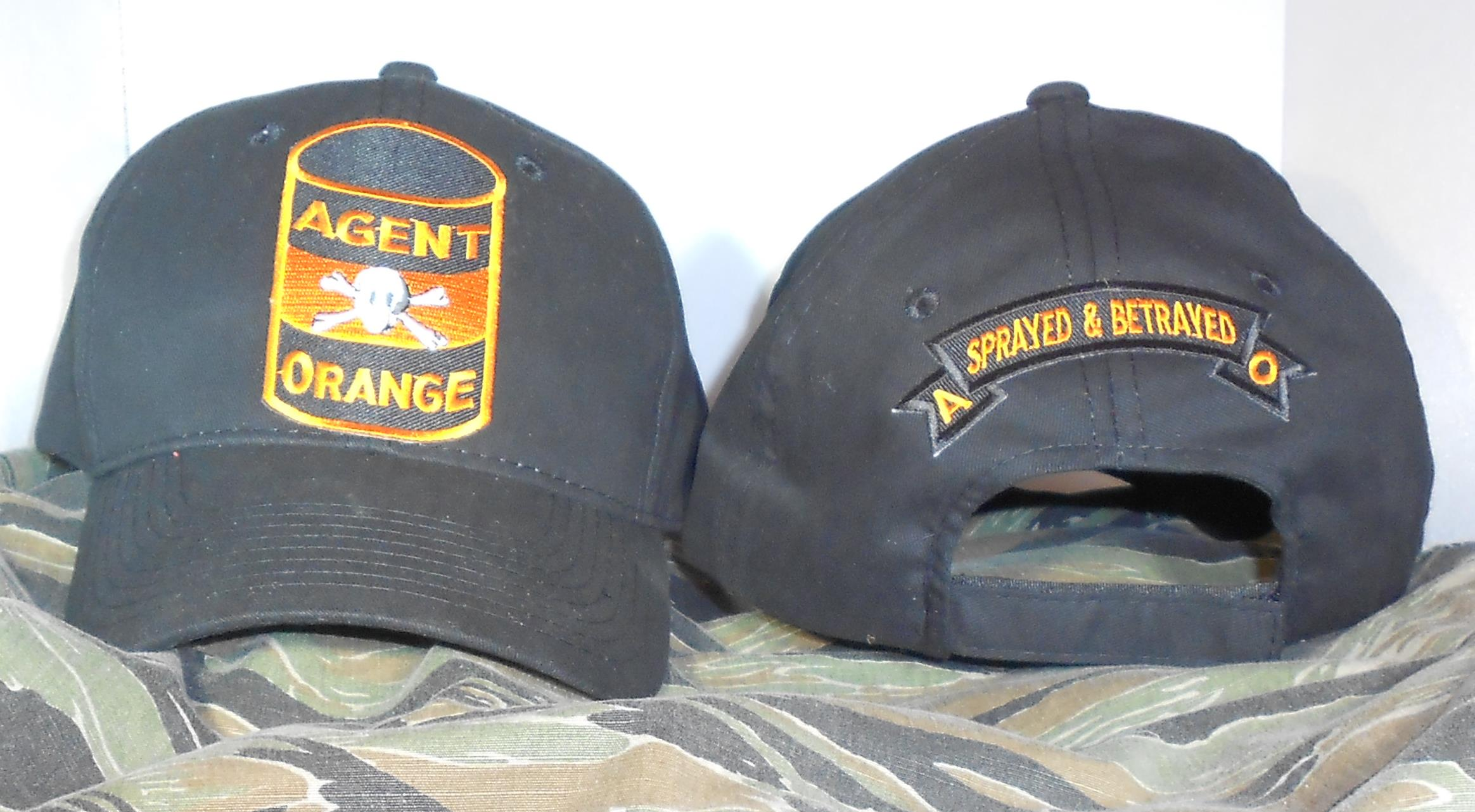AGENT ORANGE 55 GALLON DRUM BLACK HATS