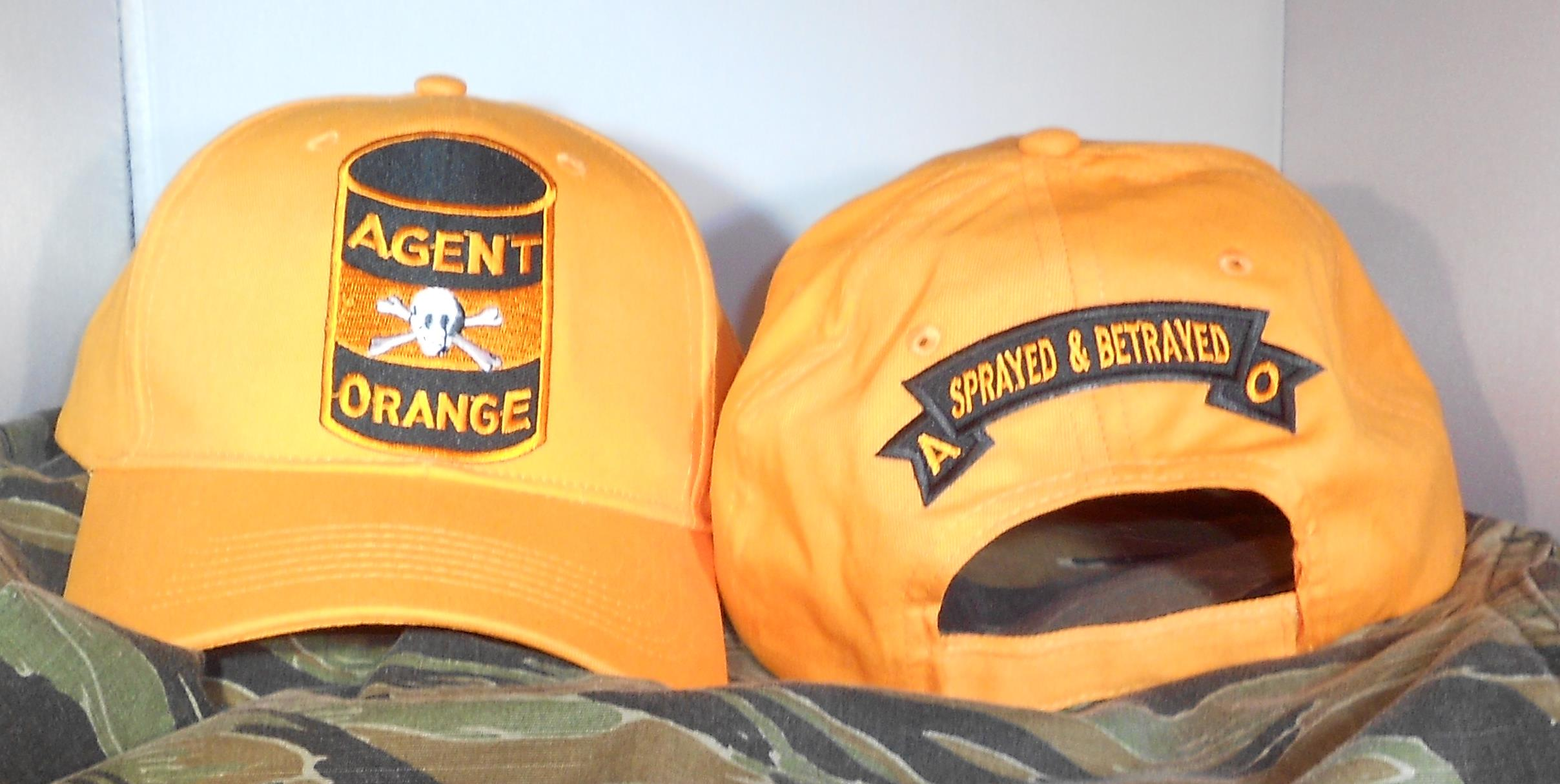 AGENT ORANGE 55 GALLON DRUM ORANGE HATS