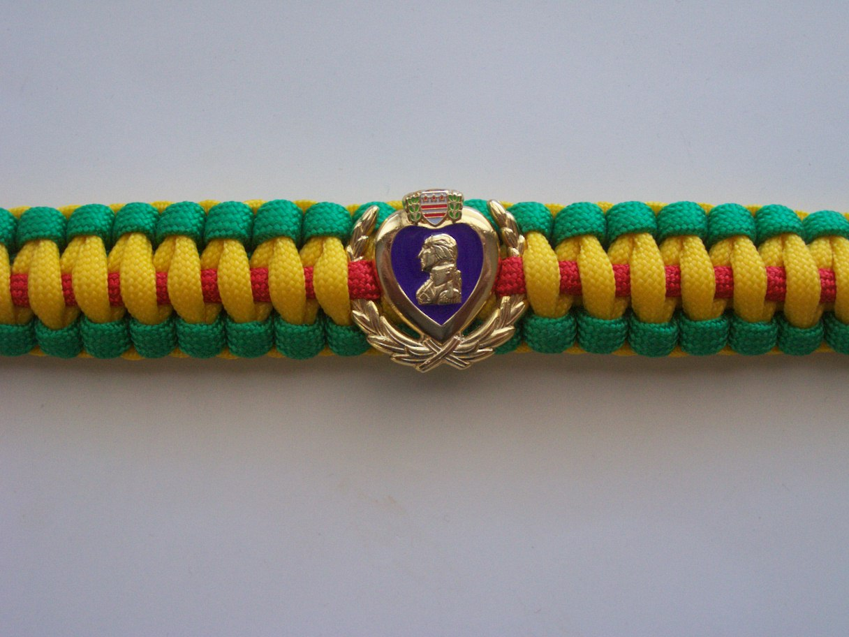 VIETNAM VETERAN PURPLE HEART PARACORD BRACELET