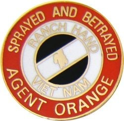AGENT ORANGE SPRAYED AND BETRAYED PINS
