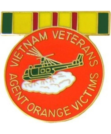 VIETNAM VETERANS AGENT ORANGE VICTIMS PINS