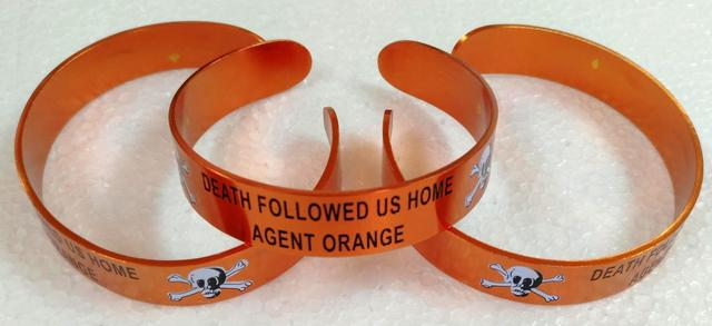 AGENT ORANGE DEATH FOLLOWED US HOME BRACELETS