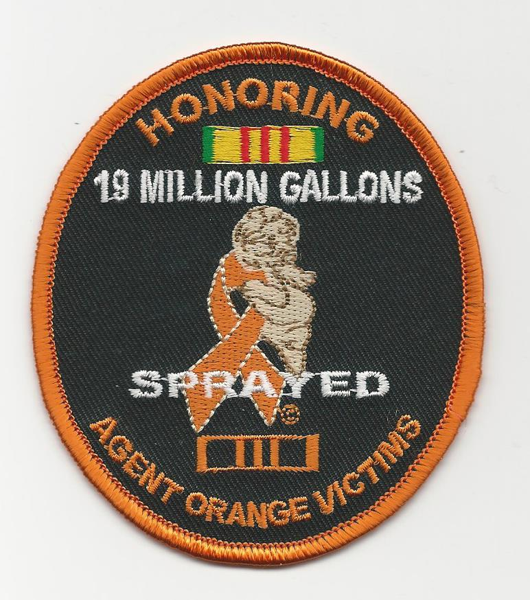 HONORING AGENT ORANGE VICTIMS PATCHES