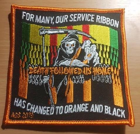 AGENT ORANGE MORPHING RIBBONS PATCH