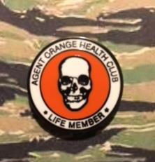 AGENT ORANGE HEALTH CLUB LIFE MEMBER PINS