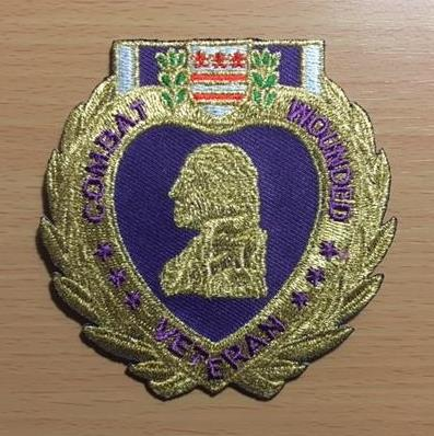 PURPLE HEART COMBAT WOUNDED PATCH