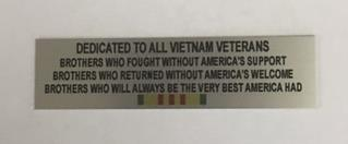 VIETNAM BROTHERS STATEMENT PLATE