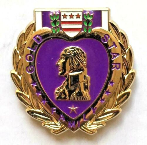 PURPLE HEART GOLD STAR FAMILY PIN