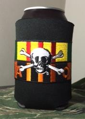 VIETNAM SERVICE RIBBON AND AGENT ORANGE RIBBON KOOZIE/CAN COOLER