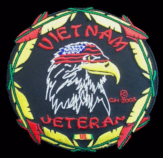 Vietnam Veteran Feathers Patches