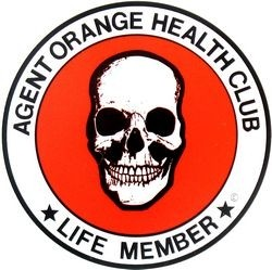 AGENT ORANGE HEALTH CLUB LIFE MEMBER (outside) STICKERS