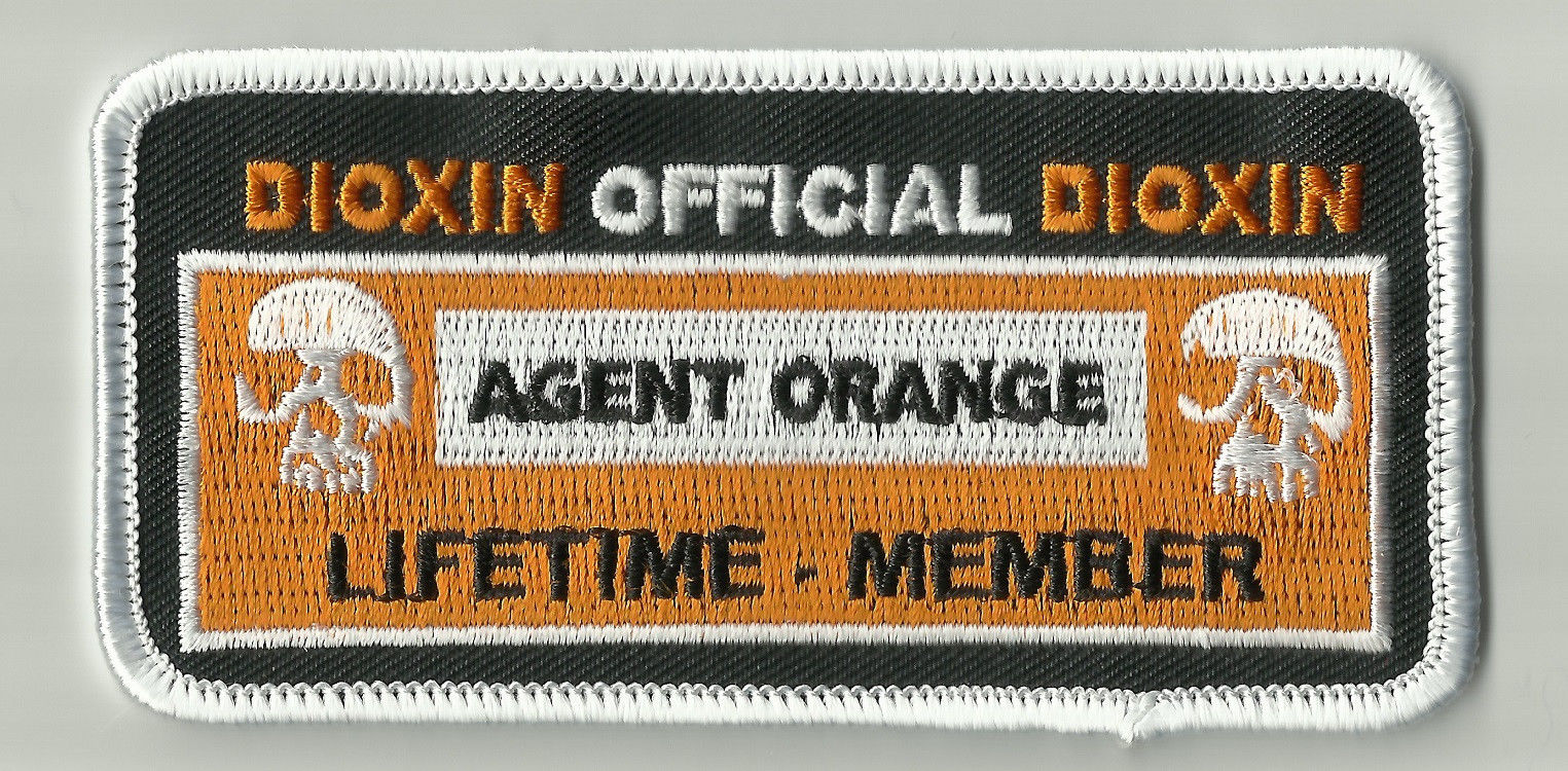 AGENT ORANGE OFFICIAL LIFETIME MEMBERS PATCHES
