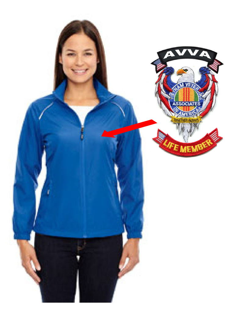 AVVA LADIES JACKET WITH EAGLE AVVA LIFE MEMBER PATCHES